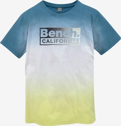 BENCH T-Shirt in blau / neongelb / weiß, Produktansicht