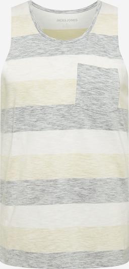 JACK & JONES T-shirt i ljusgul / gråmelerad / vitmelerad, Produktvy