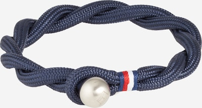 TOMMY HILFIGER Armband 'Casual Core' in navy / silber, Produktansicht
