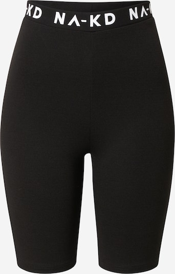 NA-KD Shorts in schwarz / weiß, Produktansicht