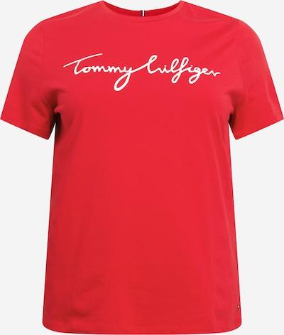 Tommy Hilfiger Curve T-Shirt in rot / weiß, Produktansicht