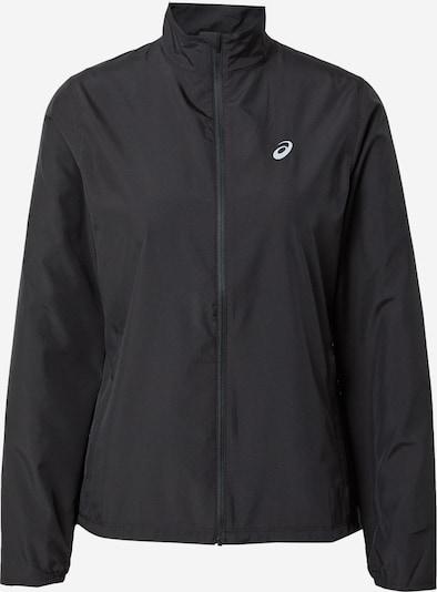 ASICS Športna jakna 'SILVER' | črna / bela barva, Prikaz izdelka