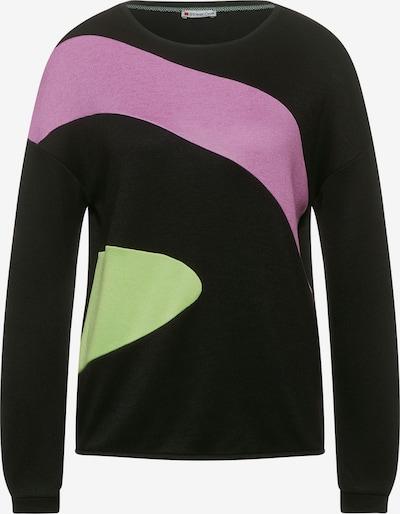 STREET ONE Shirt in apfel / lila / schwarz, Produktansicht