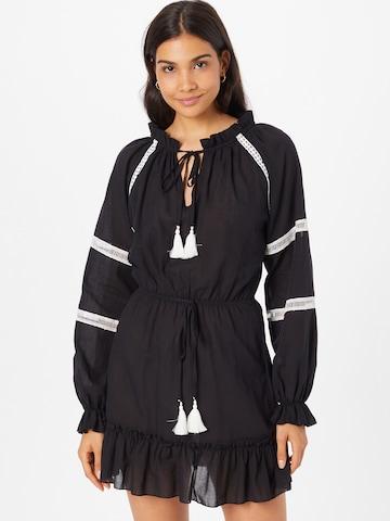 Trendyol Košeľové šaty - Čierna