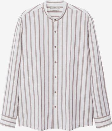 MANGO MAN Button Up Shirt 'Eldi' in Beige