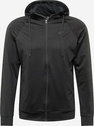 Bluză cu fermoar sport de la 4F pe negru