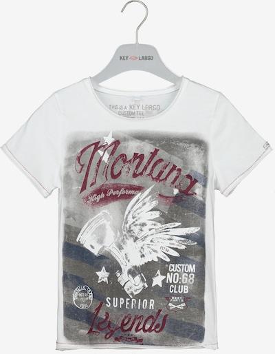 Key Largo T-Shirt 'BT MONTANA' in grau / weiß, Produktansicht