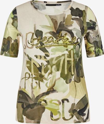 Lecomte T-Shirt in creme / dunkelgrün, Produktansicht