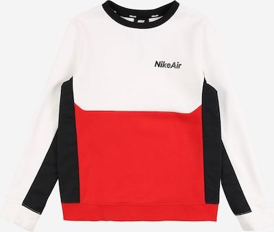Nike Sportswear Sweatshirt in rot / schwarz / weiß, Produktansicht