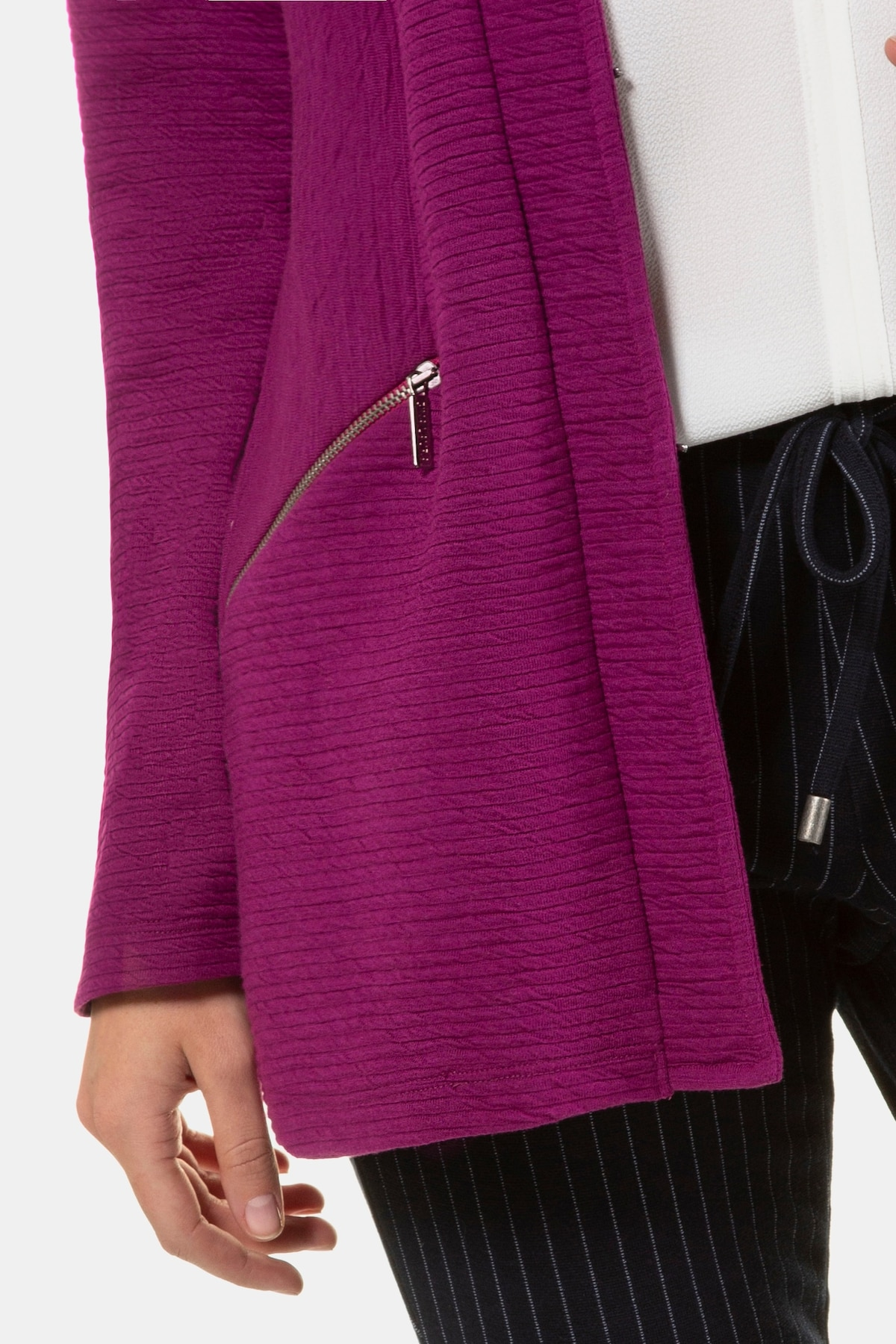 Beliebt Frauen Bekleidung Gina Laura Jacquardjacke in lila Zum Verkauf