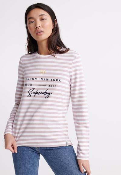 Superdry Shirt in dunkelblau / pink / weiß: Frontalansicht