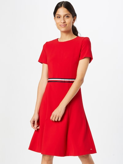 TOMMY HILFIGER Kleid 'Angela' in marine / rot / weiß, Modelansicht
