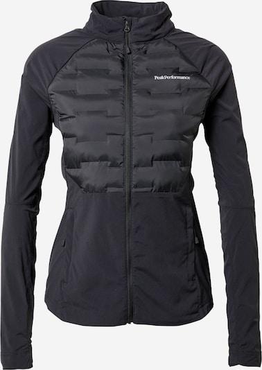PEAK PERFORMANCE Sportjacke 'Argon' in schwarz / weiß, Produktansicht