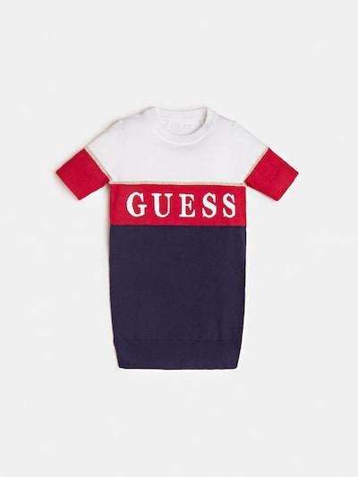 GUESS KIDS Kleid 'Jacquard' in nachtblau / rot / weiß, Produktansicht