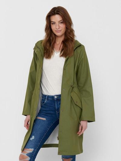ONLY Toiminnallinen pitkä takki 'Rie' värissä oliivi, Mallinäkymä