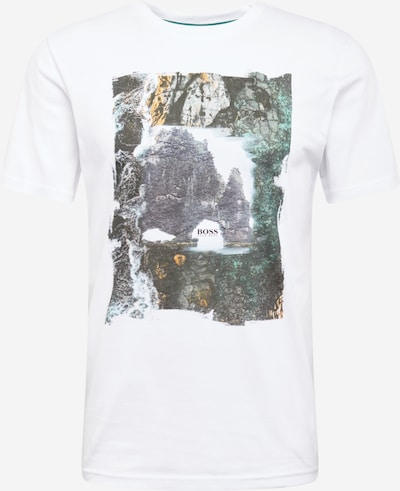 Marškinėliai 'Blurry 2' iš BOSS , spalva - mišrios spalvos / balta: Vaizdas iš priekio