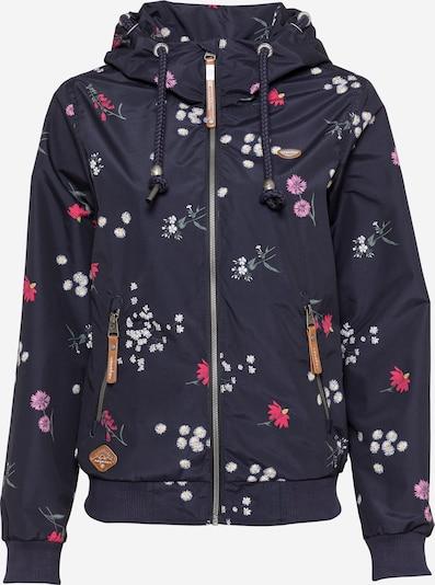 Ragwear Funktionsjakke 'Nuggie Flowers' i navy / blandingsfarvet, Produktvisning
