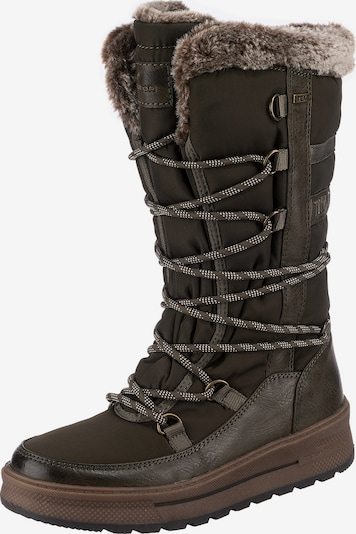 TOM TAILOR Lace-Up Boots in Brown, Item view