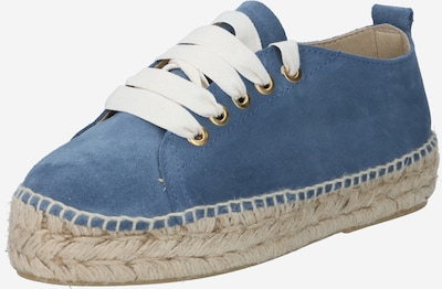 JUTELAUNE Sneaker in blue denim, Produktansicht