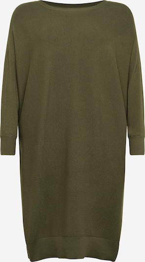 Noisy May Curve Robes en maille en vert, Vue avec produit