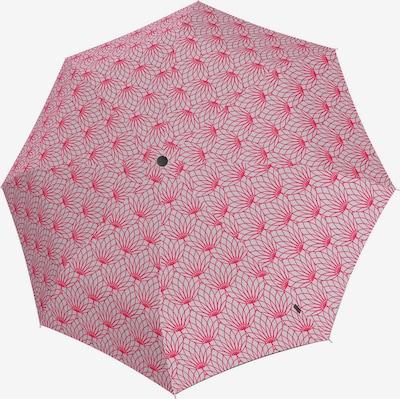 KNIRPS Regenschirm 'T.200' in hellgrau / dunkelpink, Produktansicht