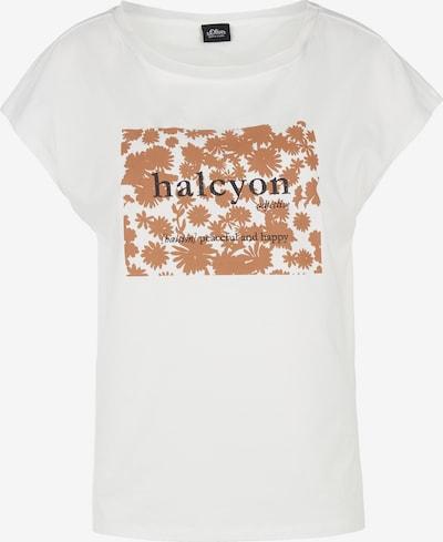 s.Oliver BLACK LABEL Shirt in creme / braun, Produktansicht