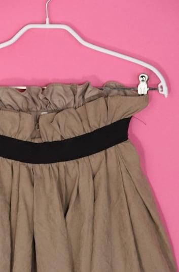 UNBEKANNT Minirock in S in karamell / schwarz, Produktansicht