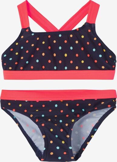 NAME IT Bikini 'Zamara' in de kleur Nachtblauw / Lichtblauw / Geel / Sinaasappel / Lichtrood, Productweergave