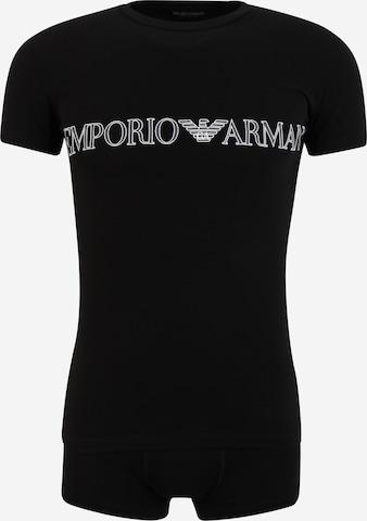 Emporio ArmaniKratka pidžama - crna boja