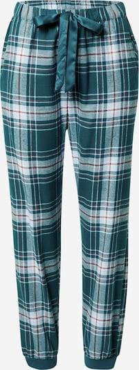Pantaloni de pijama Hunkemöller pe petrol / roşu închis / alb, Vizualizare produs