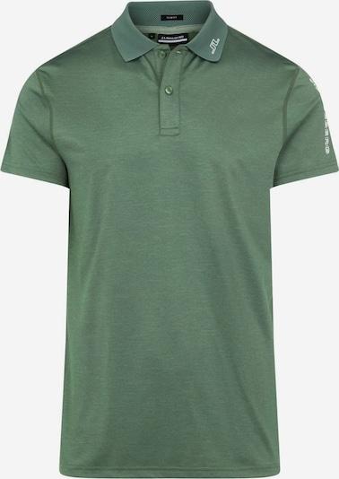 J.Lindeberg Functioneel shirt 'Jakob' in de kleur Groen / Wit, Productweergave