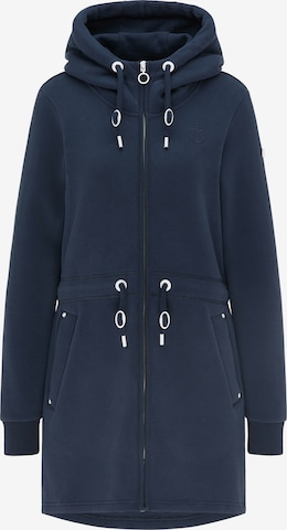 DreiMaster Maritim Zip-Up Hoodie in Blue