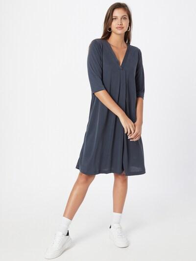 Rochie Cream pe albastru porumbel, Vizualizare model