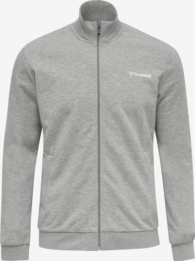 Hummel Sportsweatvest in de kleur Lichtgrijs / Wit, Productweergave