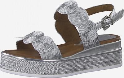 MARCO TOZZI Sandale in silber, Produktansicht