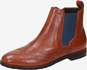 SIOUX Chelsea Boots 'Bovinia' in Brown