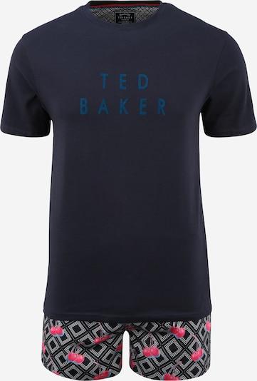 Ted Baker Pyjama court en bleu clair / bleu foncé / rose / blanc, Vue avec produit