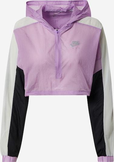 NIKE Sportska jakna u ljubičasta / crna / bijela, Pregled proizvoda