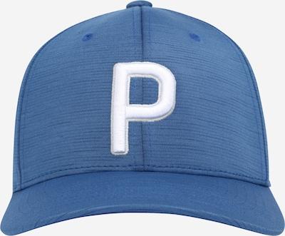 PUMA Casquette de sport en bleu marine / blanc, Vue avec produit