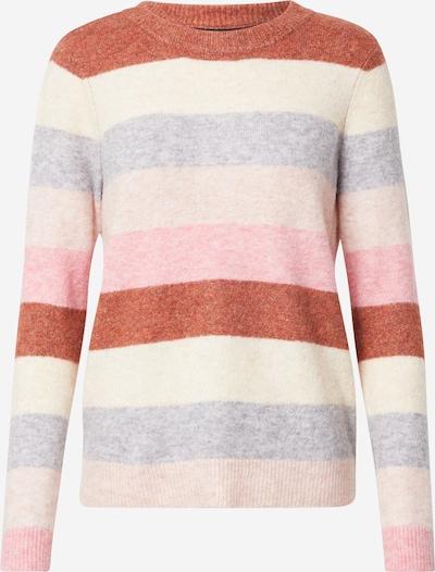 VERO MODA Pullover 'PLAZA' in beige / graumeliert / rostrot, Produktansicht
