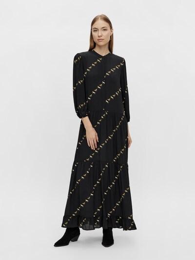 Y.A.S Kleid 'Horse' in goldgelb / hellgelb / schwarz, Modelansicht