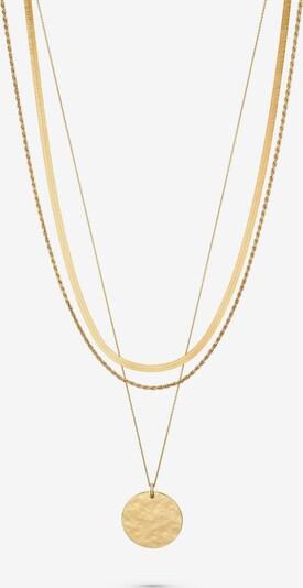 QOOQI Damen-Kette 925er Silber in gold, Produktansicht
