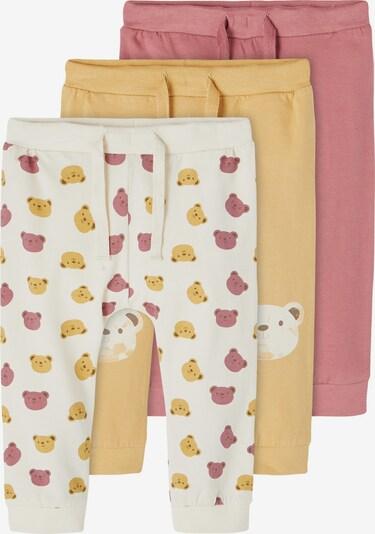 NAME IT Hose 'Lissy' in beige / gelb / rosé / naturweiß, Produktansicht