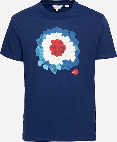 Ben Sherman Majica 'PLECTRUM' u sivkasto plava / safirno plava / pastelno crvena / bijela, Pregled proizvoda
