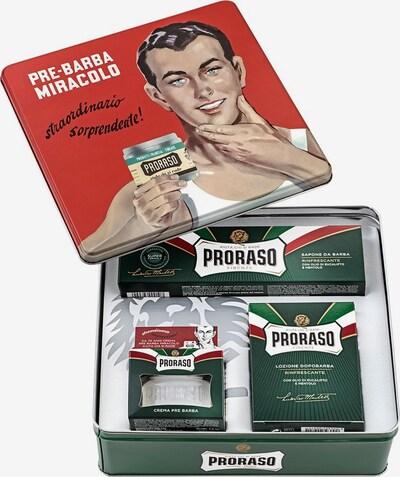 Proraso Geschenkset in dunkelgrün / blutrot / schwarz / weiß, Produktansicht