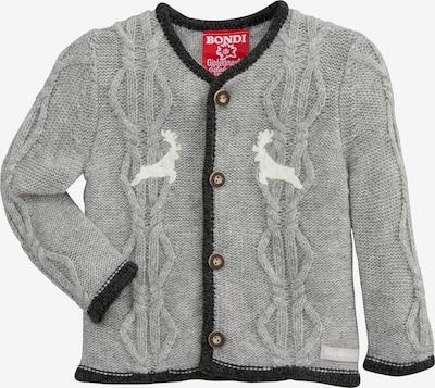 BONDI Knit Cardigan in Grey / Black / White, Item view