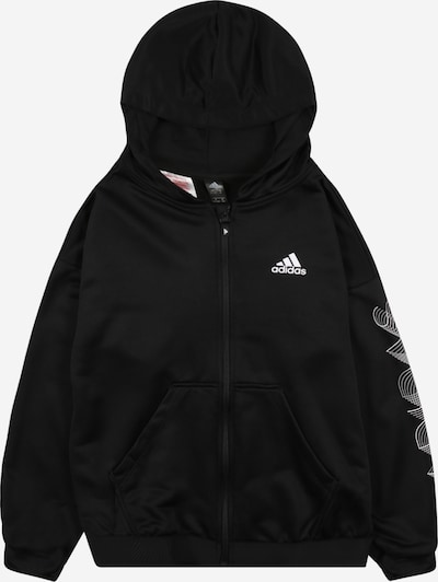 ADIDAS PERFORMANCE Sports sweat jacket in black / white, Item view