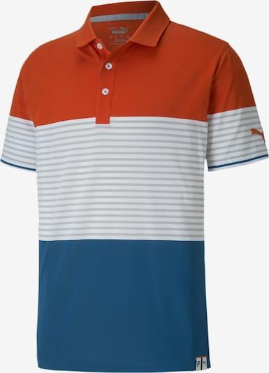PUMA Functioneel shirt 'Taylor' in de kleur Hemelsblauw / Grijs / Sinaasappel / Wit, Productweergave