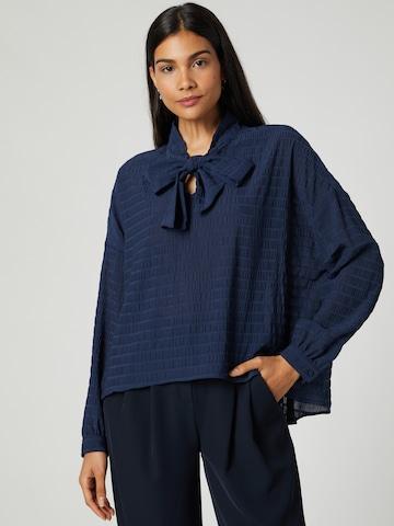 Guido Maria Kretschmer Collection Bluse 'Jenna' in Blau