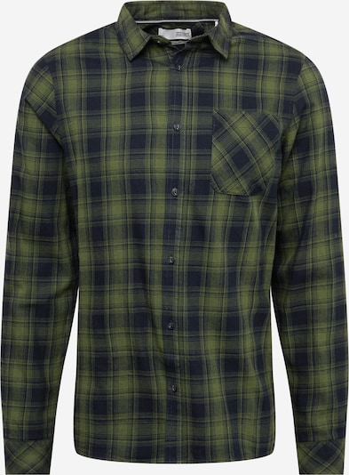 !Solid Button Up Shirt 'Varick' in Green / Black, Item view
